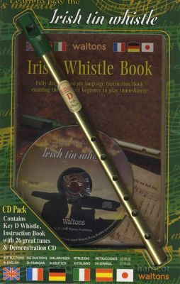 Learn To Play The Irish Tin Whistle Book/CD/Instrument