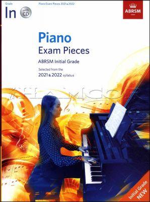 Piano Exam Pieces 2021-2022 ABRSM Initial Grade Book/CD