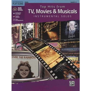 Top Hits from TV, Movies & Musicals Violin Book/Audio