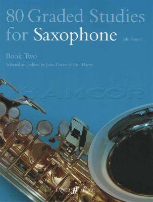 80 Graded Studies for Saxophone Book 2