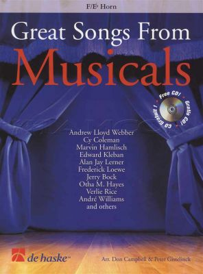 Great Songs from Musicals F Eb Horn Book/CD
