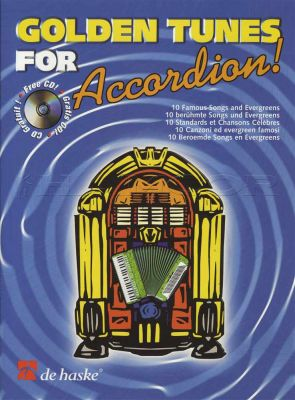 Golden Tunes For Accordion Book/CD