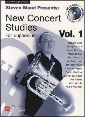 New Concert Studies for Euphonium Vol 1 Treble Clef Book/CD