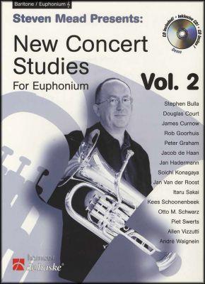 New Concert Studies for Euphonium Vol 2 Treble Clef Book/CD