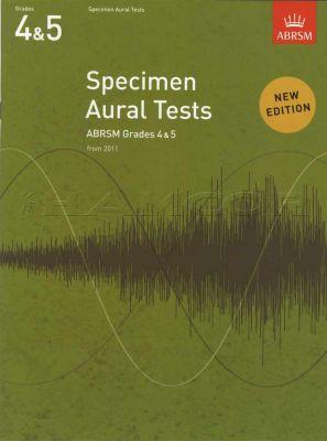 Specimen Aural Tests Grades 4-5 Book Only