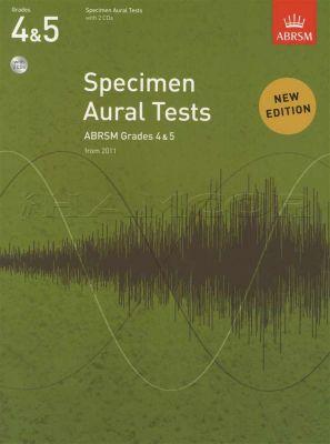 Specimen Aural Tests Grades 4-5 Book/2CDs