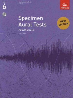 Specimen Aural Tests Grade 6 Book/CD
