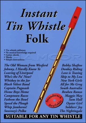 Instant Tin Whistle Folk Book Only