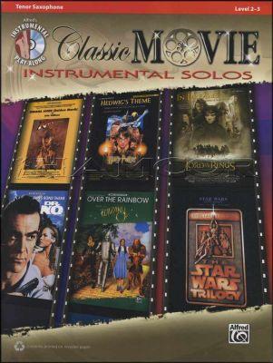 Classic Movie Instrumental Solos Tenor Sax Book/CD
