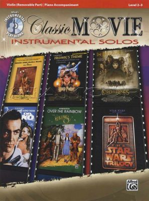Classic Movie Instrumental Solos Violin Book/CD