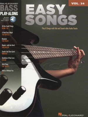 Easy Songs Bass Play-Along Volume 34 Book/Audio