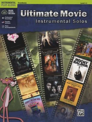 Ultimate Movie Instrumental Solos Trombone Book/Audio