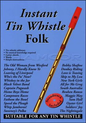Instant Tin Whistle Folk Book/CD
