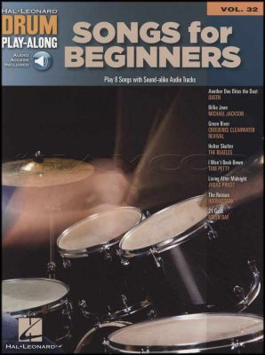 Songs for Beginners Drum Play-Along Volume 32 Book/Audio