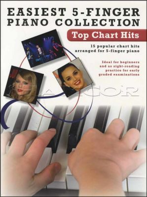 Easiest 5-Finger Piano Collection Top Chart Hits