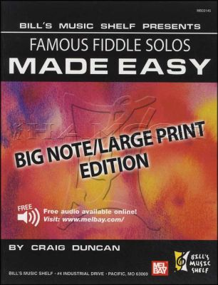Famous Fiddle Solos Made Easy Big Note Edition