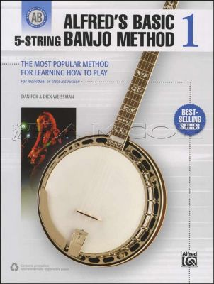 Alfreds Basic 5-String Banjo Method 1 Book Only