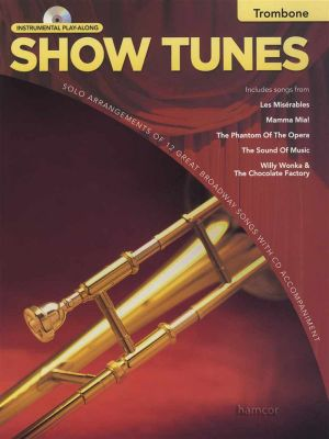 Show Tunes Instrumental Play-Along Trombone Book/CD