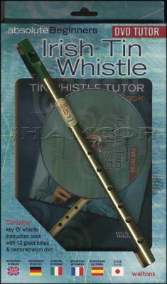 Absolute Beginners Irish Tin Whistle Book/DVD/Instrument