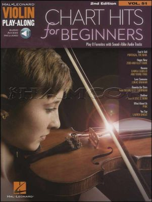 Chart Hits for Beginners Violin Play-Along Book/Audio