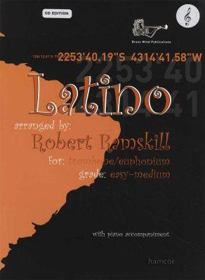 Latino for Trombone/Euphonium Treble Clef Book/CD