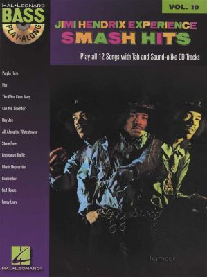 Jimi Hendrix Smash Hits Bass Play-Along Book/CD