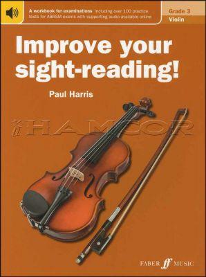 Improve Your Sight-Reading Violin Grade 3 Book/Audio