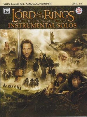 Lord Of The Rings Trilogy Solos for Cello/Piano Book/CD