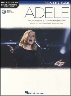Adele Instrumental Play-Along for Tenor Sax Book/Audio