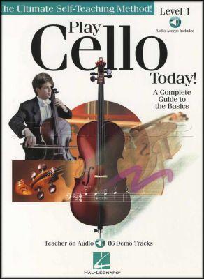 Play Cello Today Level 1 Book/Audio