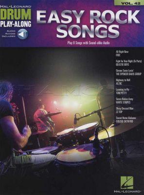 Easy Rock Songs Drum Play-Along Book/Audio