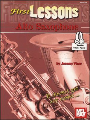 First Lessons Alto Saxophone Book/Audio