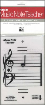Alfred's Music Note Teacher Flashcard White
