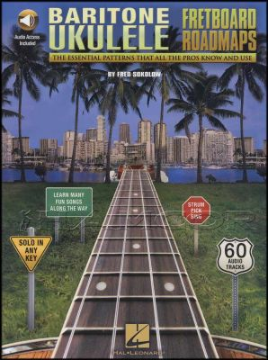 Baritone Ukulele Fretboard Roadmaps Book/Audio