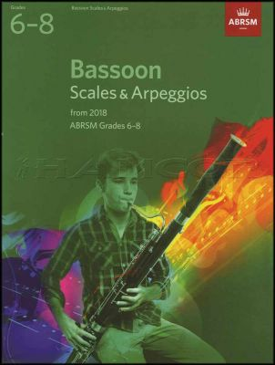 Bassoon Scales & Arpeggios from 2018 ABRSM Grades 6-8