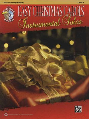 Easy Christmas Carols Instrumental Solos Piano Acc Book/CD