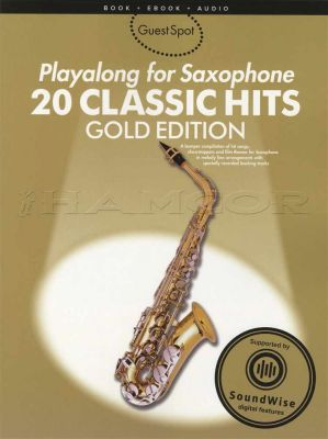 Playalong for Saxophone 20 Classic Hits Book/Audio