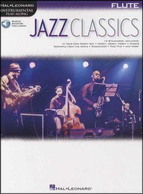 Jazz Classics Flute Instrumental Play-Along Book/Audio