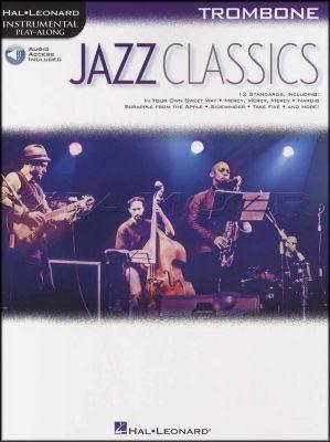 Jazz Classics Trombone Instrumental Play-Along Book/Audio