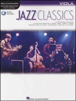 Jazz Classics Viola Instrumental Play-Along Book/Audio