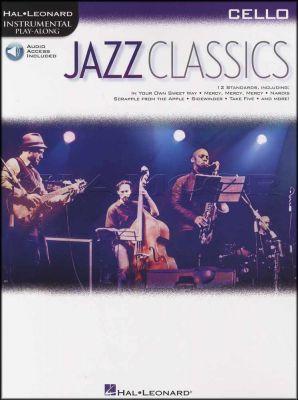 Jazz Classics Cello Instrumental Play-Along Book/Audio