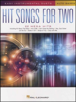 Hit Songs for Two Alto Saxes Easy Instrumental Duets