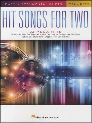 Hit Songs for Two Trumpets Easy Instrumental Duets