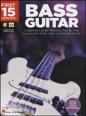 First 15 Lessons Bass Guitar Book/Audio/Video