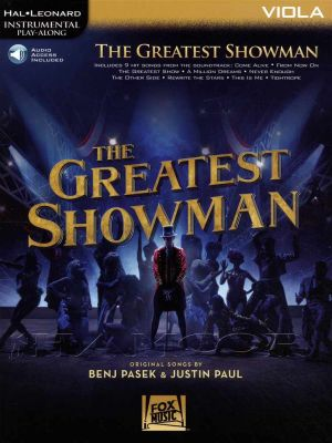 The Greatest Showman Viola Play-Along Book/Audio