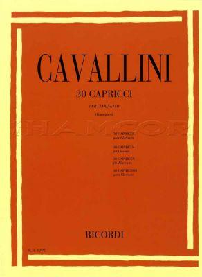 Cavallini 30 Capricci for Clarinet