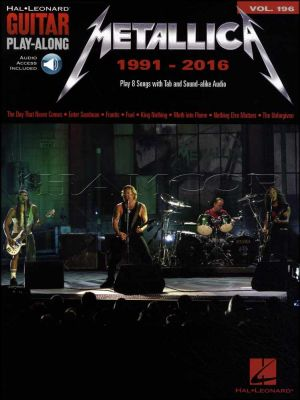 Metallica 1991-2016 Guitar Play-Along Book/Audio