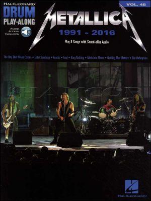 Metallica Drum Play-Along 1991-2016 Book/Audio