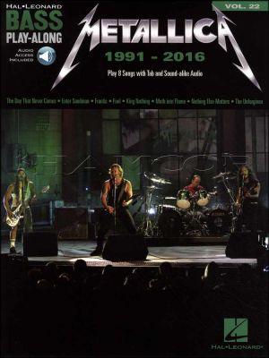 Metallica Bass Play-Along 1991-2016 Book/Audio