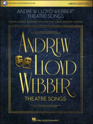 Andrew Lloyd Webber Theatre Songs Mens Edition Book/Audio